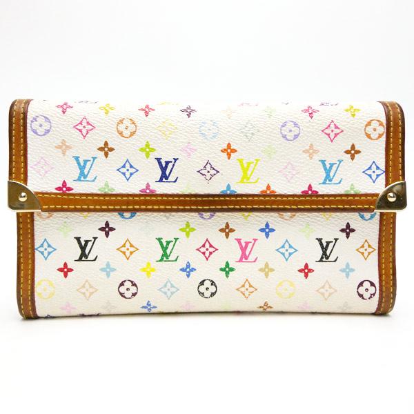 ルイヴィトン 財布 ブロン(ホワイト) マルチカラーキャンパス LOUIS VUITTON -TKY16659