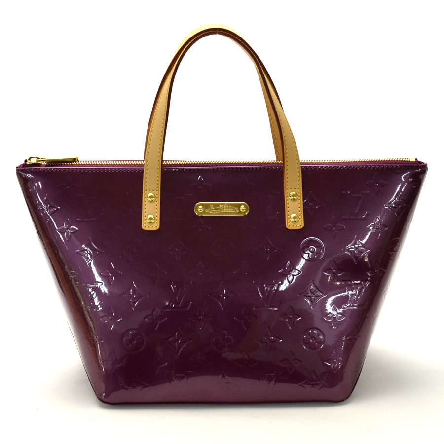 35ec489e059b Auth Louis Vuitton Monogram Uñas Bellevue PM Bolso De Mano Charol ...