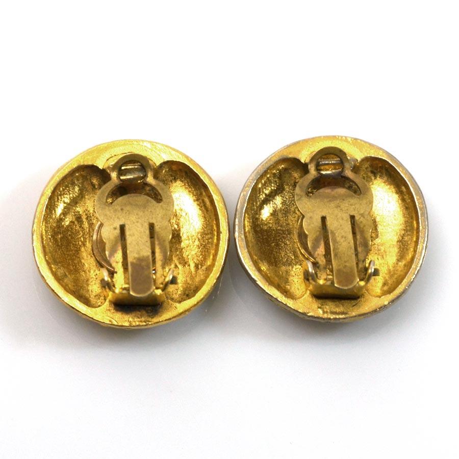 Auth chanel coco mark earrings metal ebay