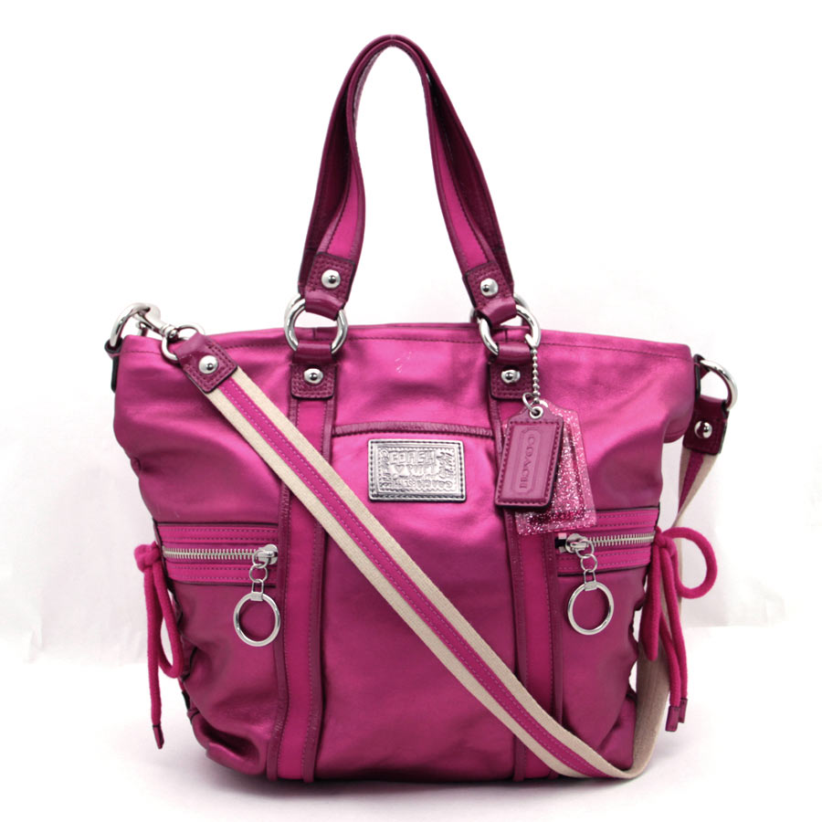 auth coach poppy spot light shoulder bag raspberry pink. Black Bedroom Furniture Sets. Home Design Ideas
