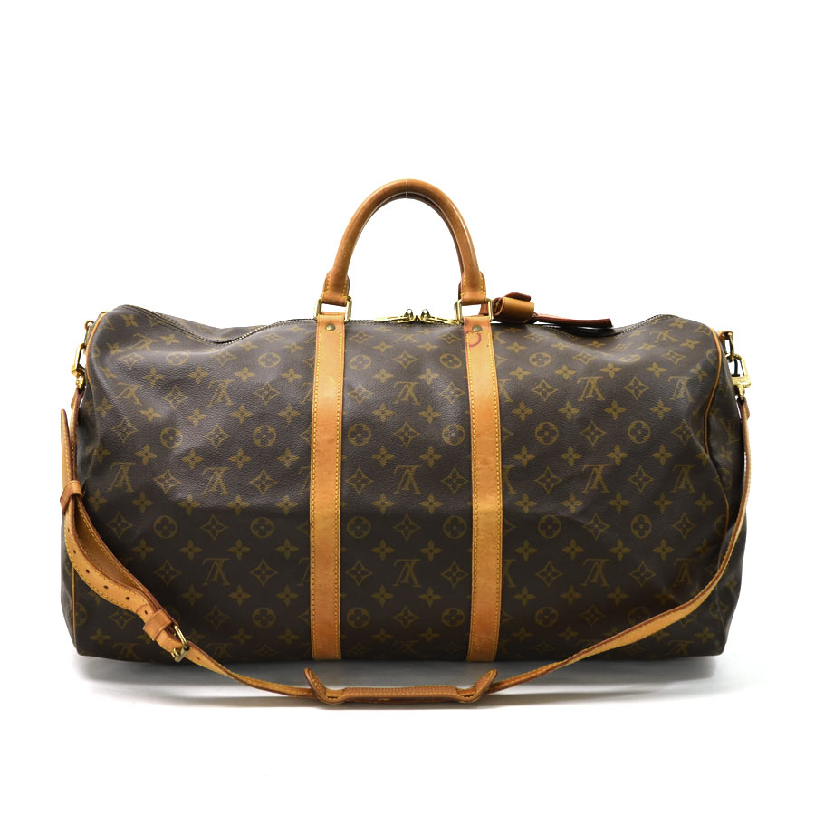 auth louis vuitton monogram keepall bandouliere 55 boston. Black Bedroom Furniture Sets. Home Design Ideas