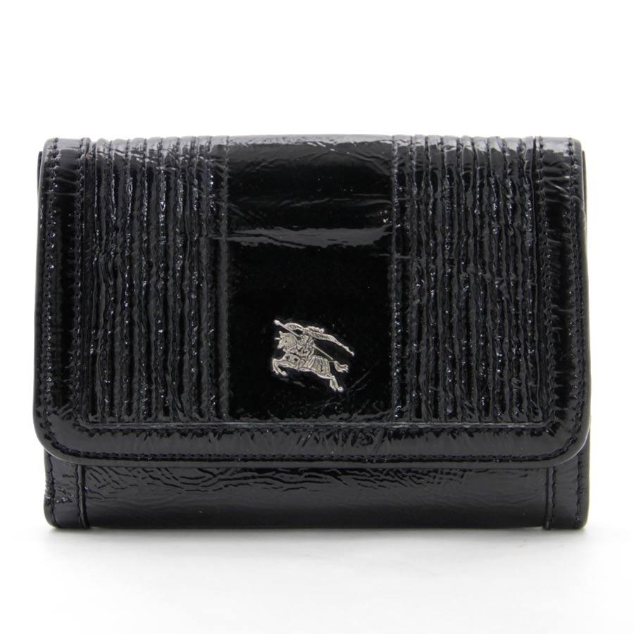 バーバリー 財布 ブラック パテントレザー BURBERRY -TKY30253