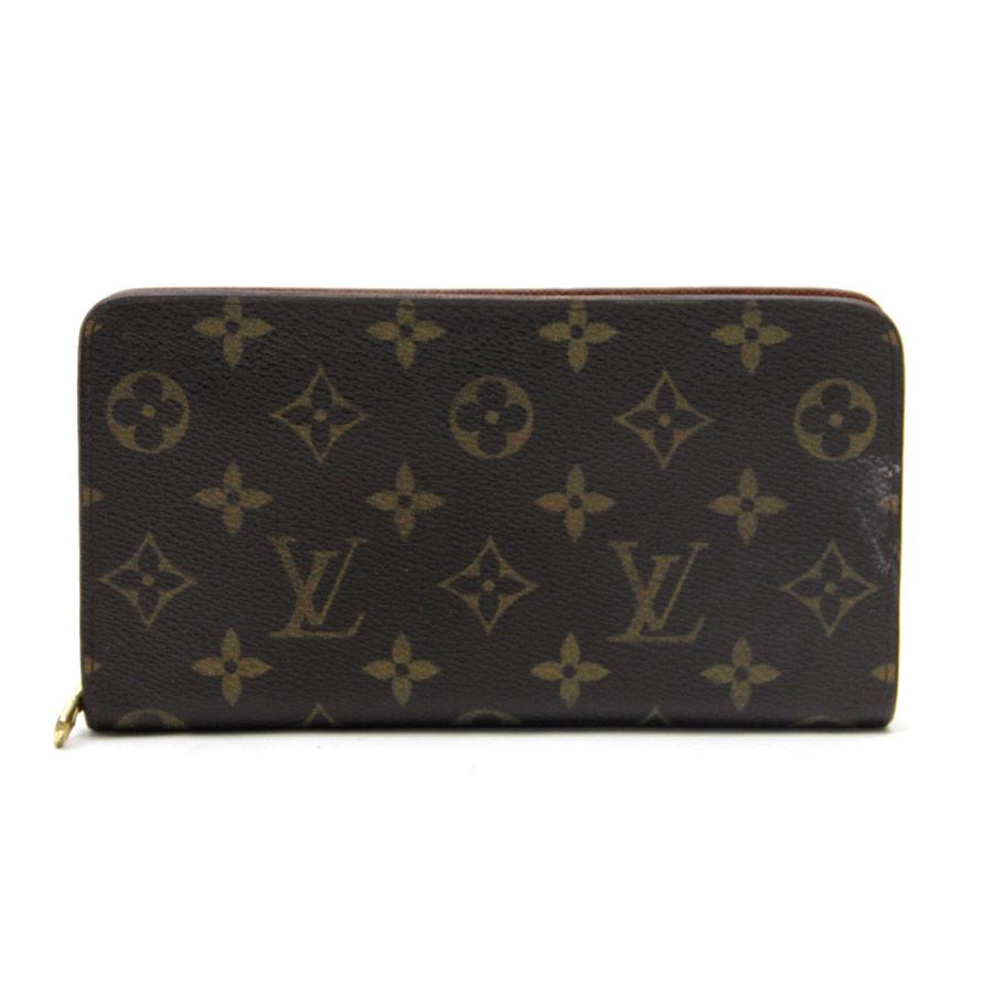 Auth louis vuitton monogram porte monnaie zip long wallet for Porte monnaie wallet