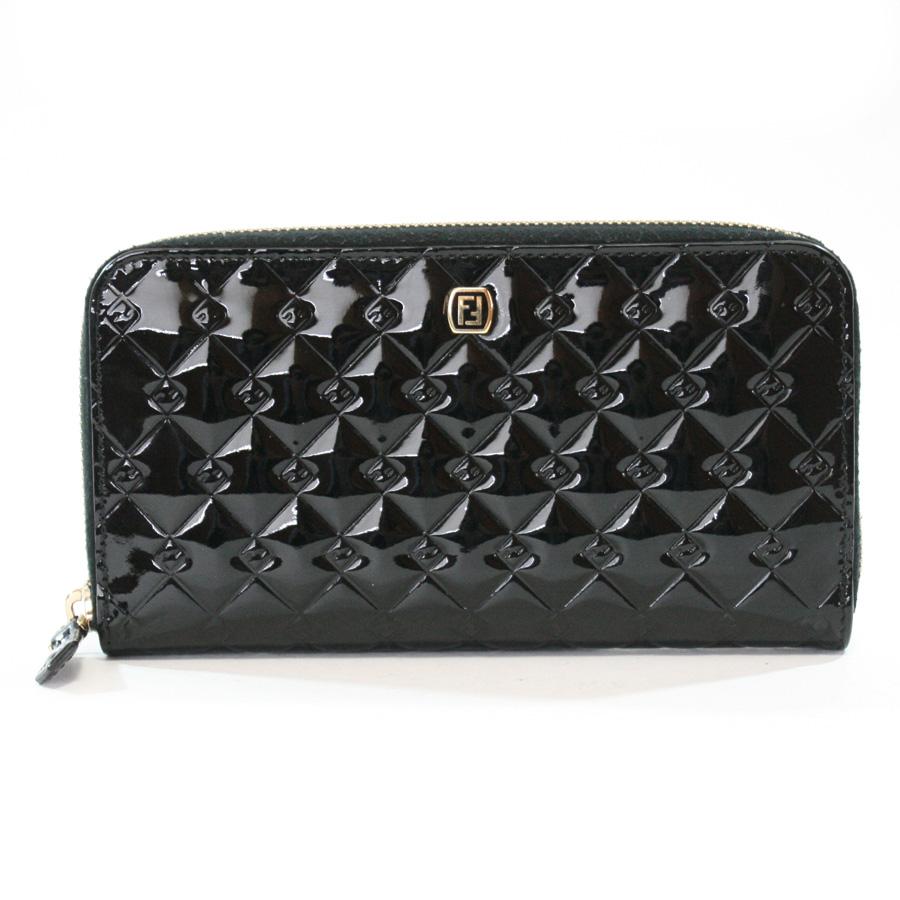 フェンディ 財布 ブラック パテントレザー FENDI -TKY38259