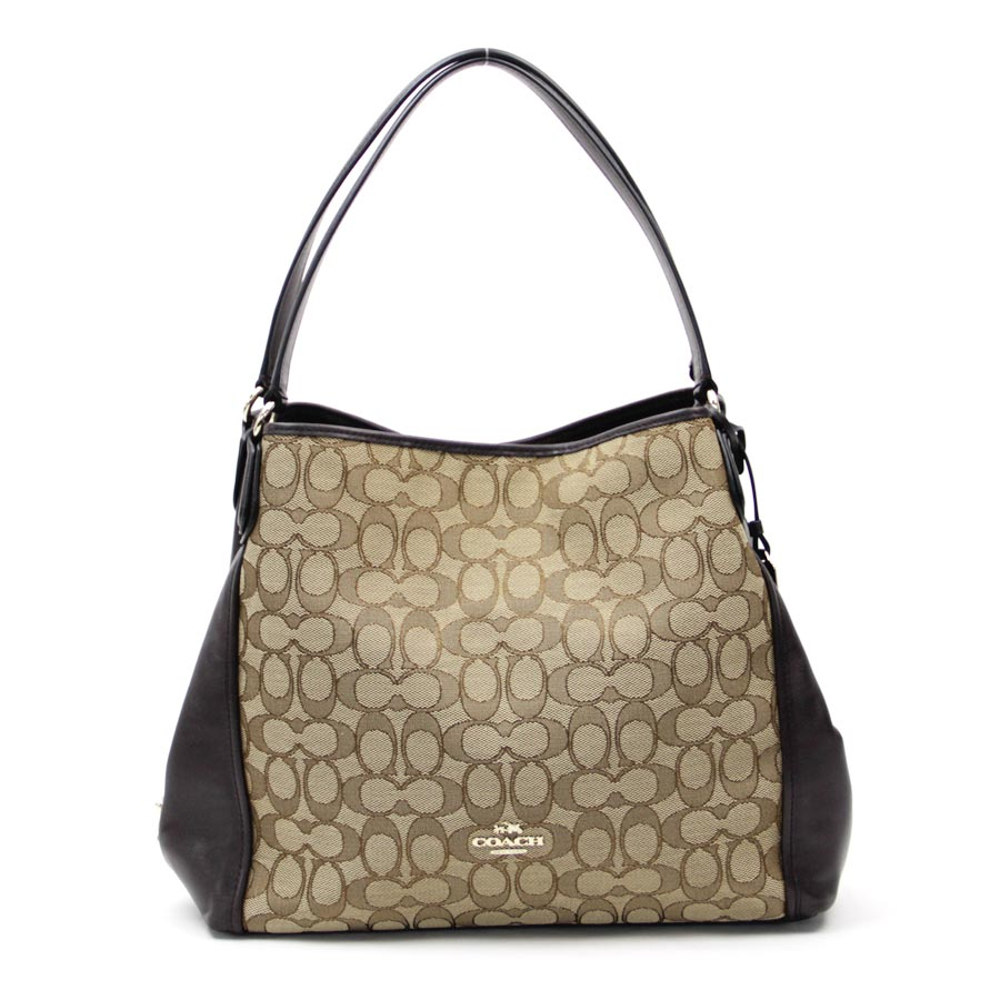 Auth-COACH-Edie-Shoulder-Signature-Shoulder-Bag-36466-38313