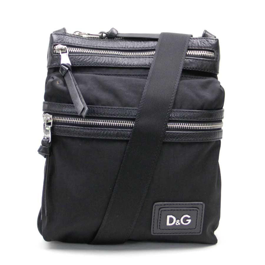 ディーアンドジー バッグ ブラック ナイロン×レザー D&G -TKY40197